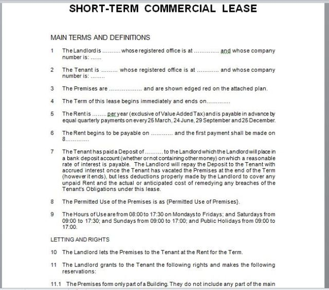 Commercial Lease Agreement Template 15