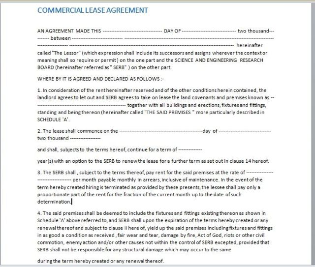 Commercial Lease Agreement Template 17