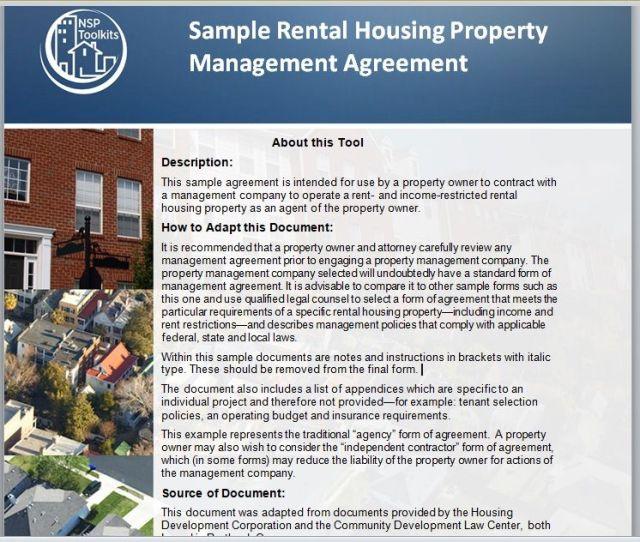 Property Management Agreement 01