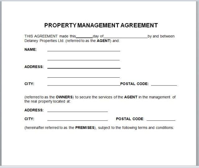 Property Management Agreement 03