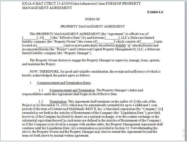 Property Management Agreement 10