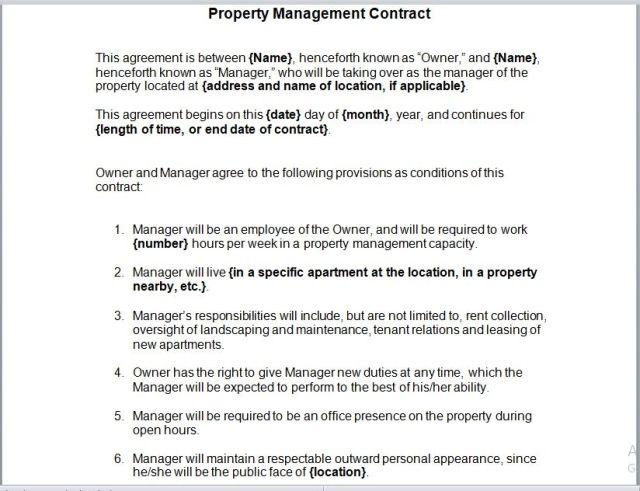 Property Management Agreement 18
