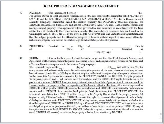 Property Management Agreement 21