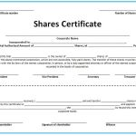 27 Free Stock Certificate Templates