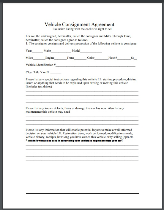 Consignment agreement template 02