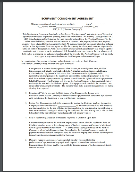 Consignment agreement template 03
