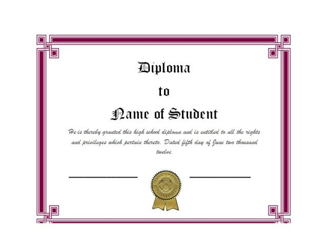 Diploma Certificate Template 10