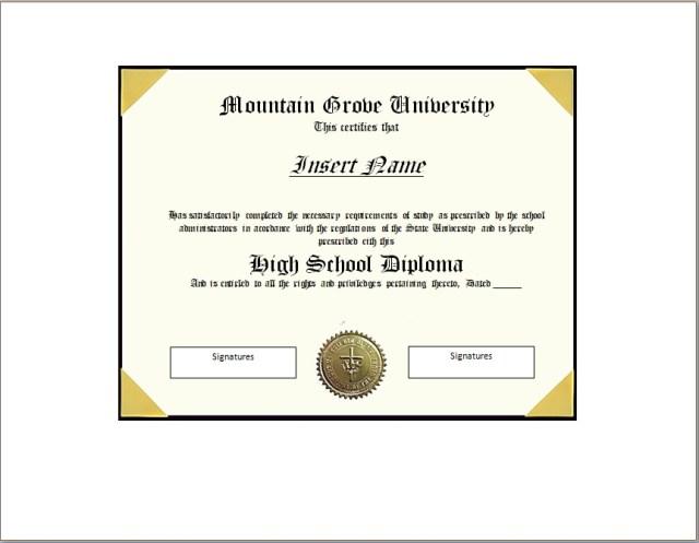 Diploma Certificate Template 11