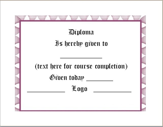Diploma Certificate Template 19