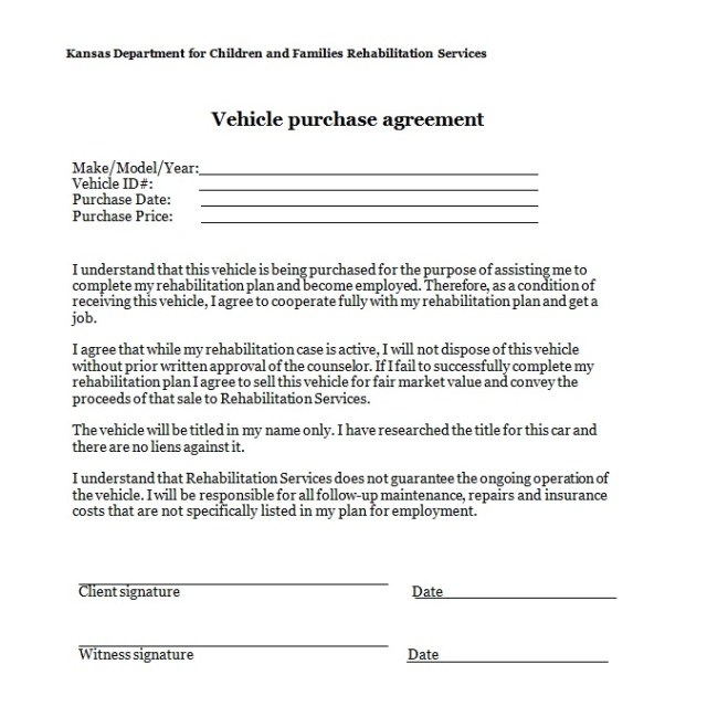 Vehicle Purchase Agreement Template 07