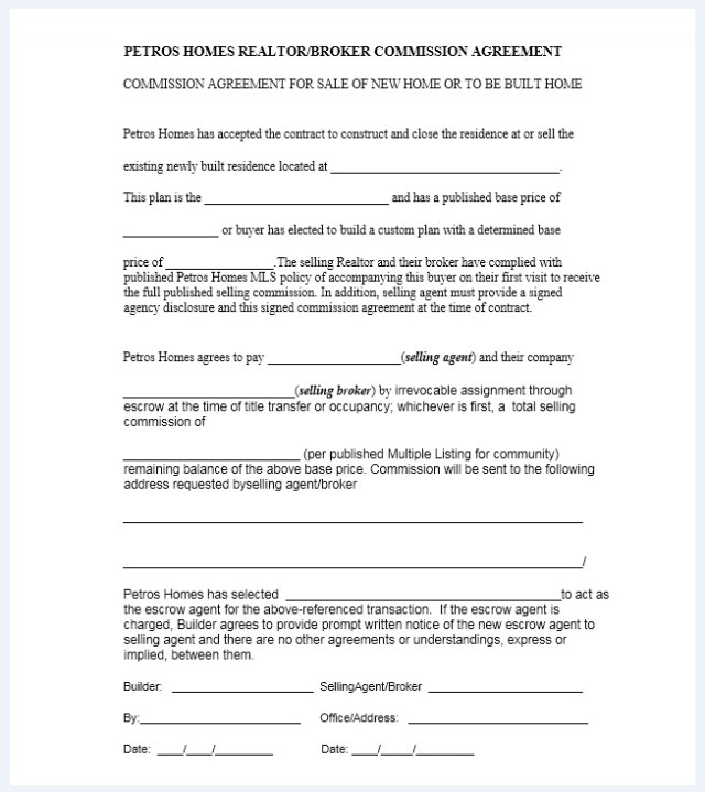 Commission agreement template 10