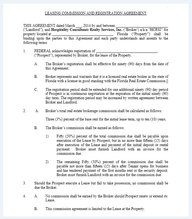 Commission agreement template 19