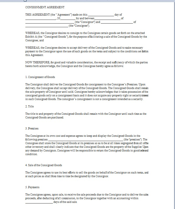 Consignment agreement template 16