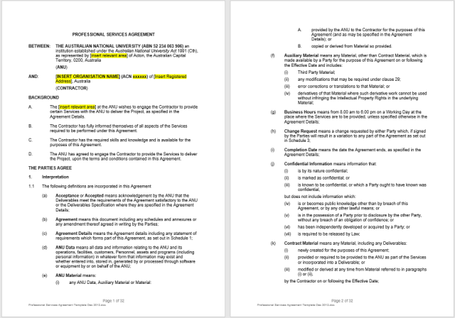 Consultancy Agreement Template 09.