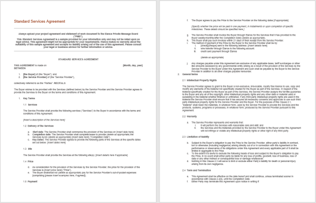 Consultancy Agreement Template 13.