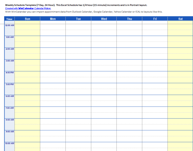 Daily Work Schedule Templates 14.