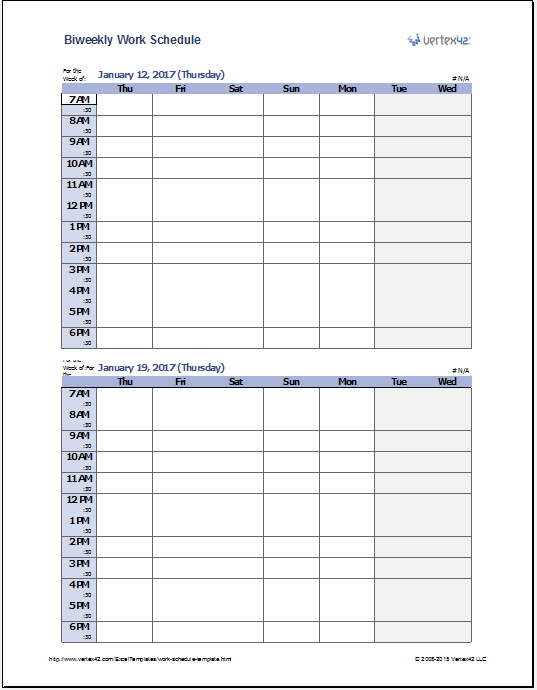 Daily Work Schedule Templates 15.