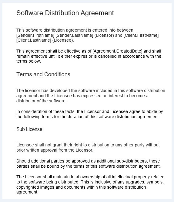 Distribution agreement template 09..