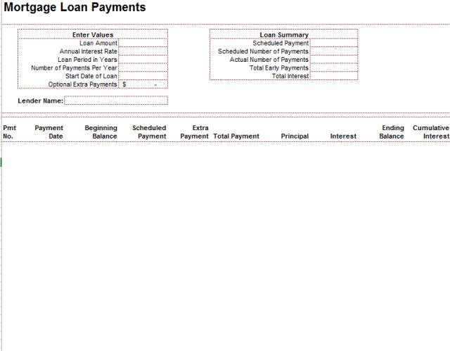 Loan Amortization Schedule Template 01