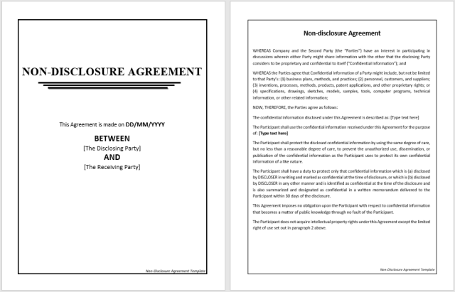 Non Disclosure Agreement Template 10