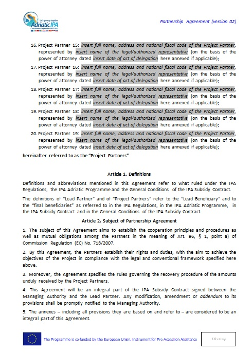 Partnership Agreement Template 10