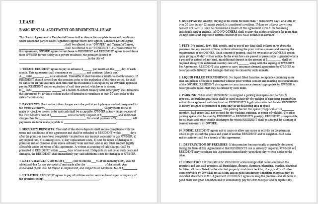 Rental Agreement Template 11