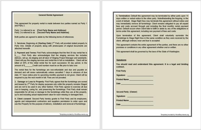 Rental Agreement Template 14