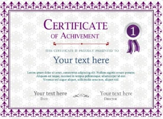 certificate of achievement template 07