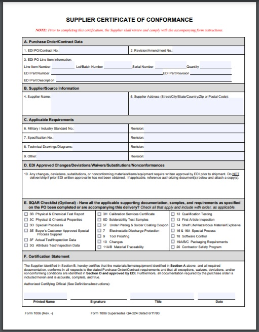 certificate of conformity Template 12