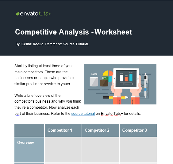 competitive analysis template 09