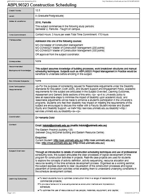 construction schedule template 01