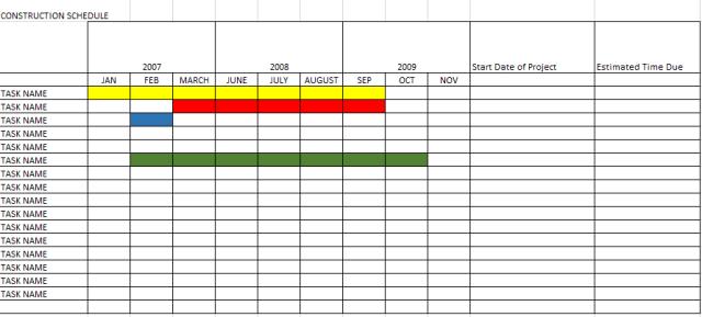 construction schedule template 05