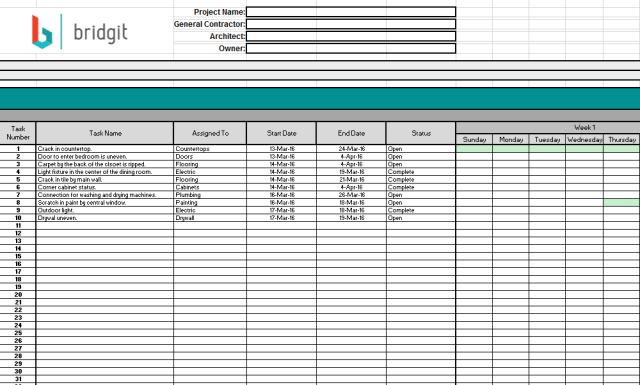construction schedule template 07