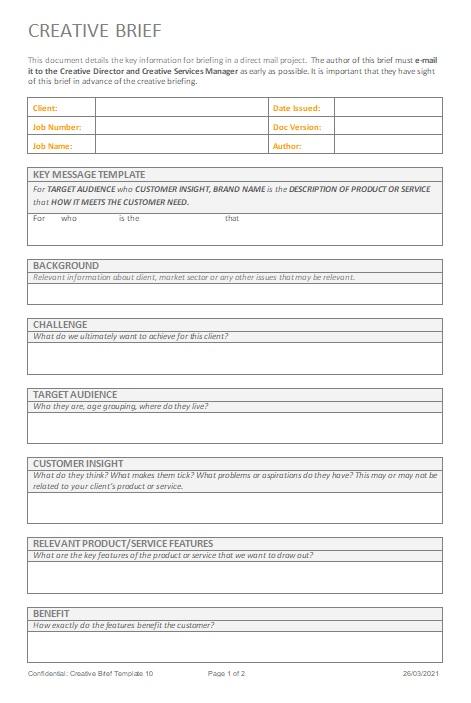 creative brief template 10