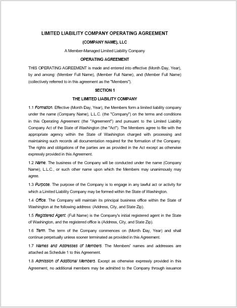 llc operating agreement template 03