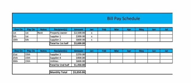 payment schedule template 04