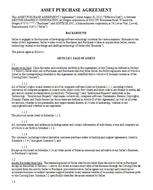 purchase agreement template 07