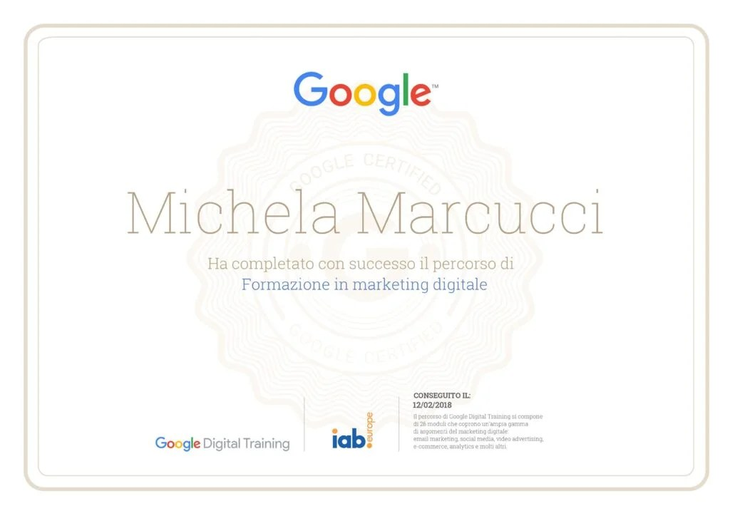 Google Digital Training: Marketing Digitale