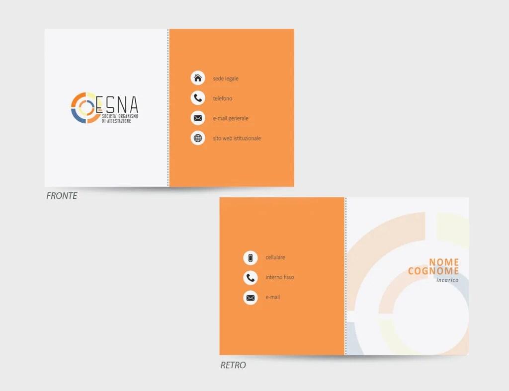 ESNA – proposta grafica biglietto da visita