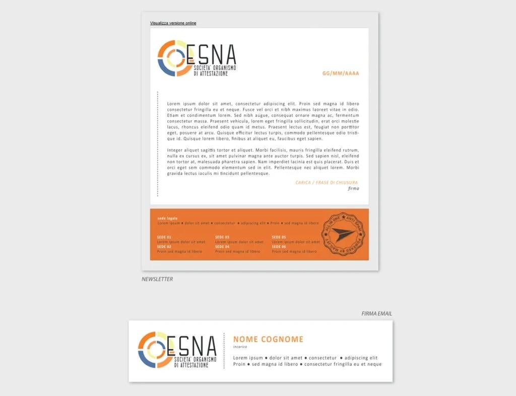 ESNA – proposta grafica mailing