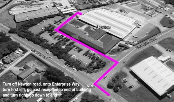 map of studio location for Mike Turner Photography