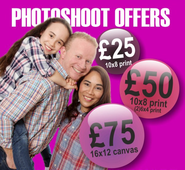 3 photoshoot offers from Mike Turner Photography