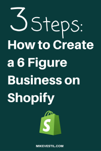 Find out how to create a 6 figure business on shopify.