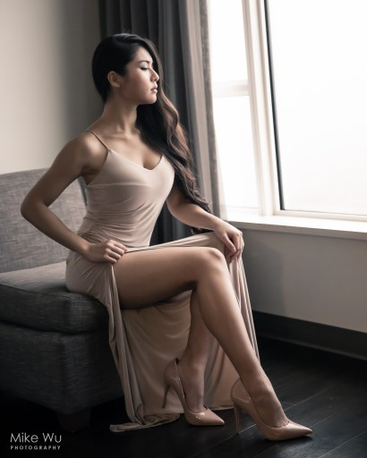 model, portrait, vancouver, eyes, beauty, sexy, babe, window, modern, girl, dress, chair, elegant, classy, girl