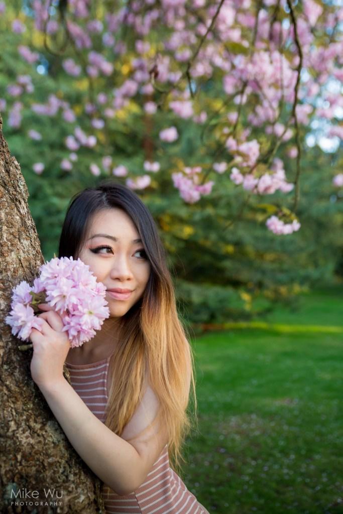Shooting with Sakura. Model Sylvie Wong