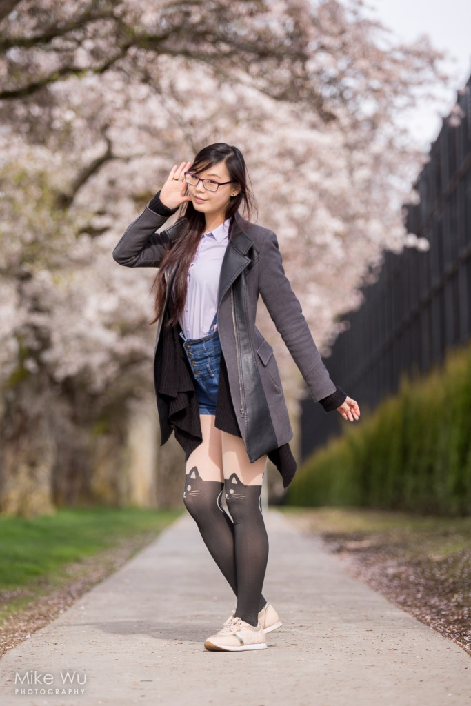 Under the blooming cherry blossoms. Model Nooblet Cosplay