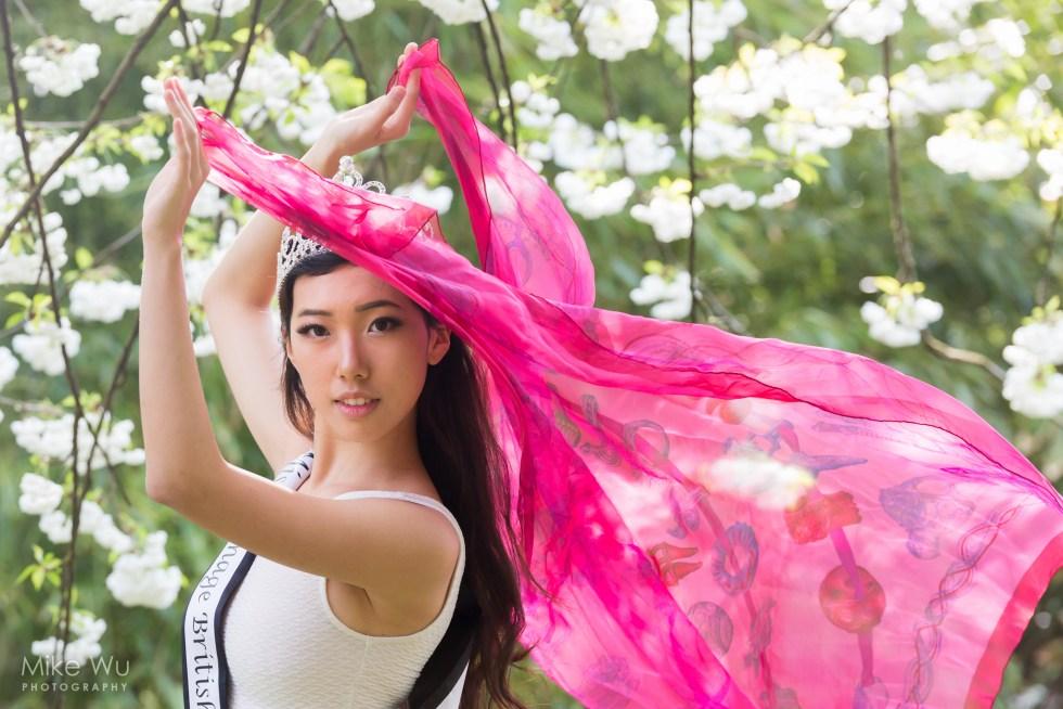 Shooting sakura with Miss Teenage British Columbia 2016 Ariel Cao