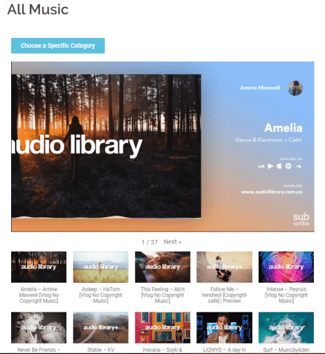 audio library browser, media, music, no copyright, creative commons license, royalty-free, browse, listen, tracks, sound, video, videography, cinematography, instagram story