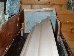 Dobcross Church repair. Bench run cornice.