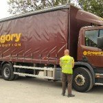 26 tonne curtainside rigid lorry (13ft heigh x 40ft long). This can be supplied with a tail lift and carries a pallet truck, or can ideally be unloaded by customers forklift or similar.